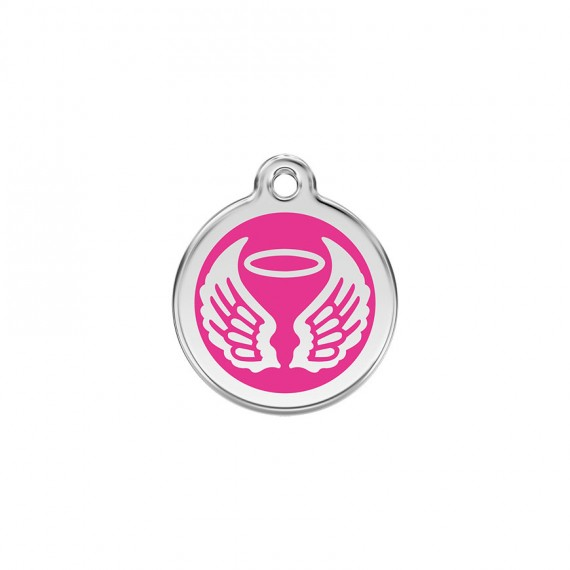 Hondenpenning Angel Wings Hot Pink