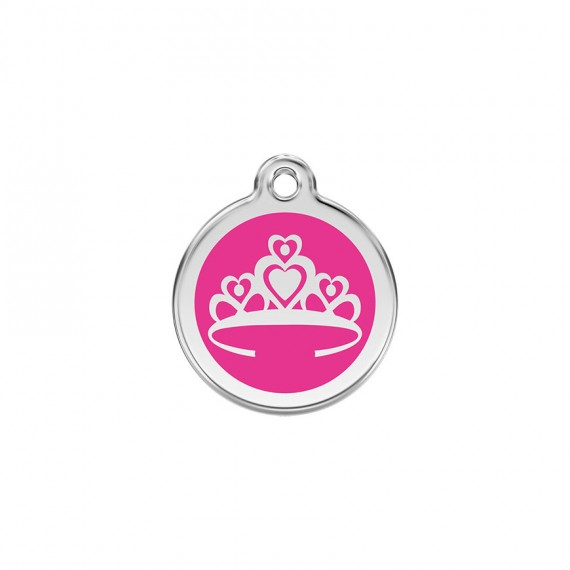 Hondenpenning Crown Hot Pink