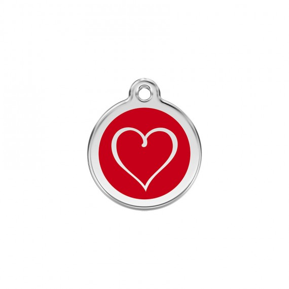 Hondenpennin Tribal Heart Red