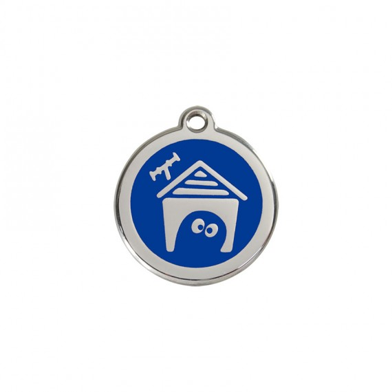 Hondenpenning-Dog-House--Dark-Blue