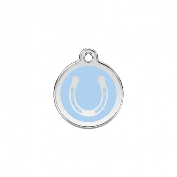 Hondenpenning-Horseshoe-Light-Blue
