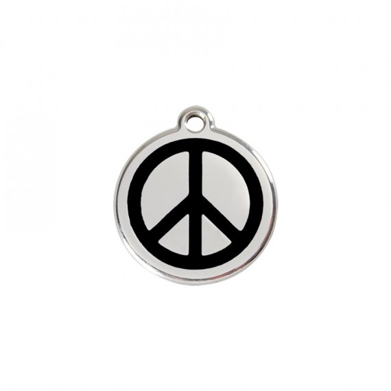 Hondenpenning--Peace-Black