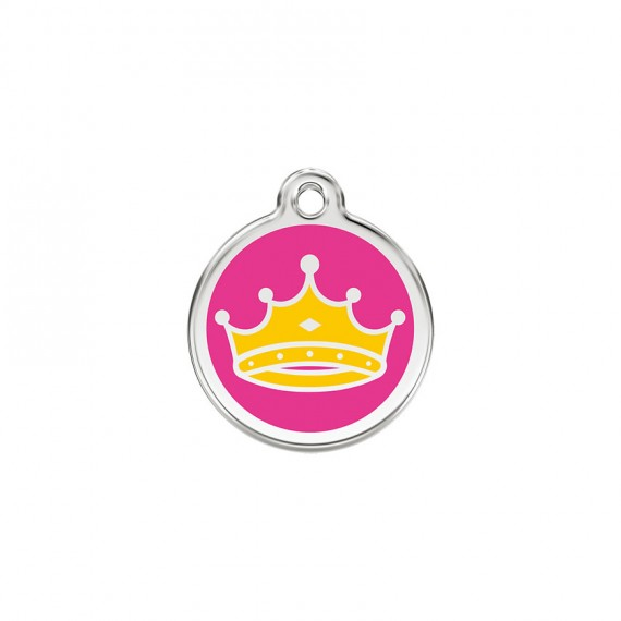 Hondenpenning Queen Hot Pink