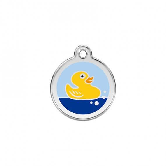 Hondenpenning Rubber Duck Light Blue