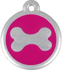 QR Hondenpenning bot roze Red Dingo