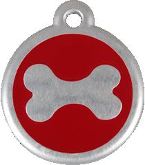 QR Hondenpenning bot rood Red Dingo