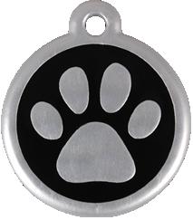 QR Hondenpenning pootjes zwart Red Dingo