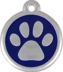 QR Hondenpenning pootjes blauw Red Dingo
