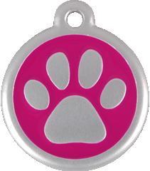 QR Hondenpenning pootjes roze Red Dingo