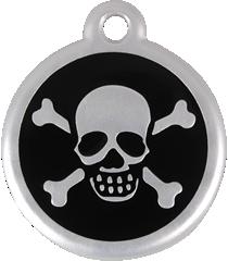 QR Hondenpenning piraat zwart Red Dingo