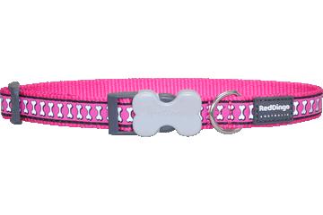 Reflecterende roze Hondenhalsband Bones