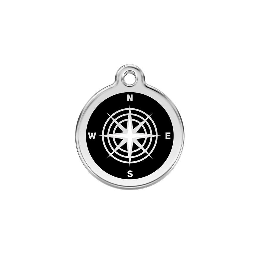 Hondenpenning Compass Black