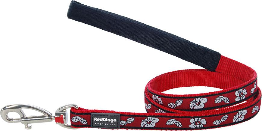 Hondenriem Hibiscus Red