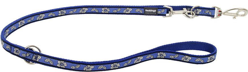 Dubbele hondenriem Hibiscus Blue