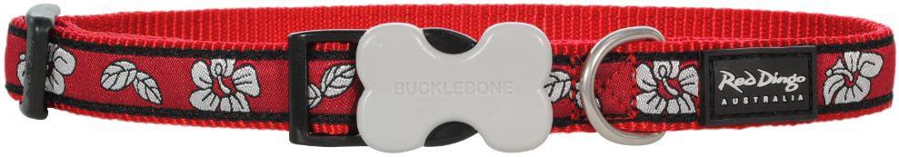 hondenhalsband Hibiscus Red
