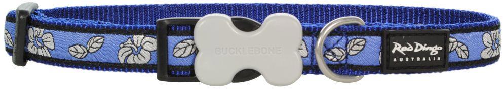 hondenhalsband hibiscus blue