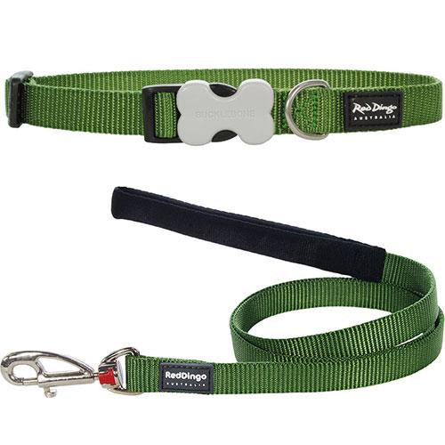 Hondenriem & hondenhalsband groen