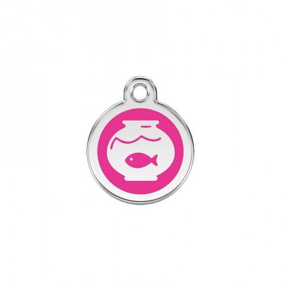 Hondenpenning-Fish-Bowl-Hot-Pink