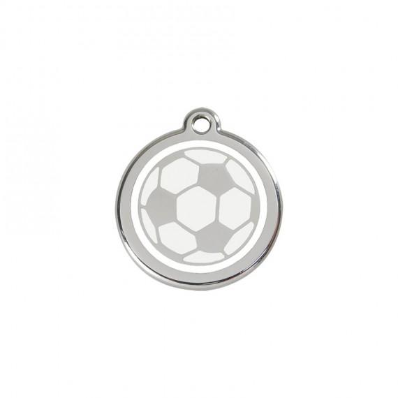 Hondenpenning  Soccer Ball White